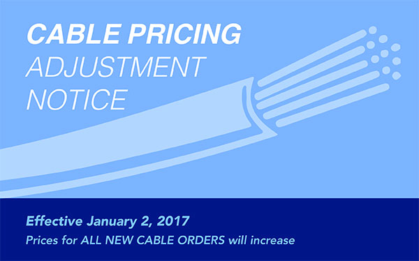 Cable Pricing Adjustment Notice Jan 2017