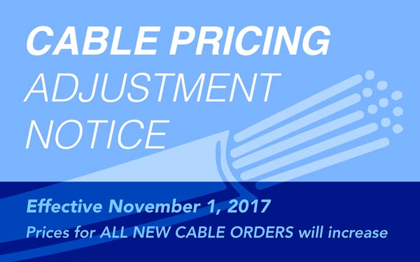 Cable Pricing Adjustment Notice Nov 2017