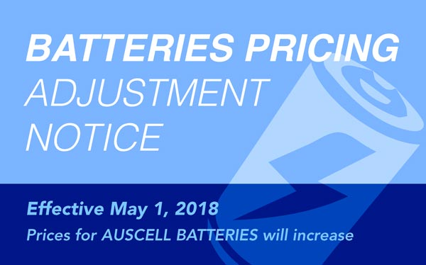 Auscell Batteries Adjustment Notice
